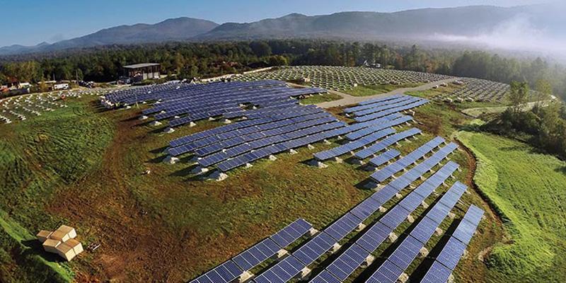 The Stafford Solar Hill Farm, a green mountain power facility in Rutland.
