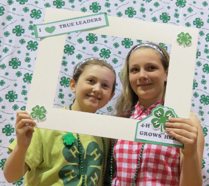 Girls in 4-H Photo Booth