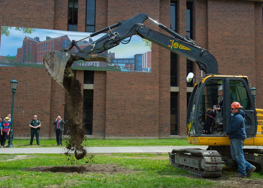 Deborah McAneny breaks ground for new STEM complex