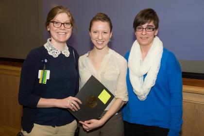 Whitney Irwin, M.D., Nicole Meredith '15, Dijana Poljak '15