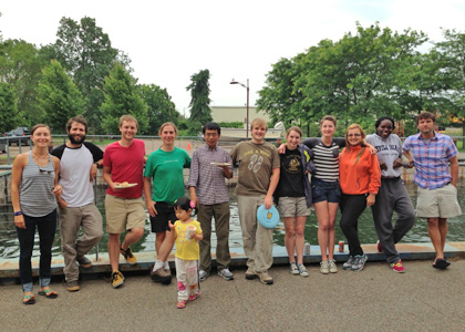 The Research on Adaptation to Climate Change team enjoying a mid-summer's cookout at the Rubenstein Laboratory.