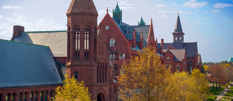 Historic UVM buildings on University Row