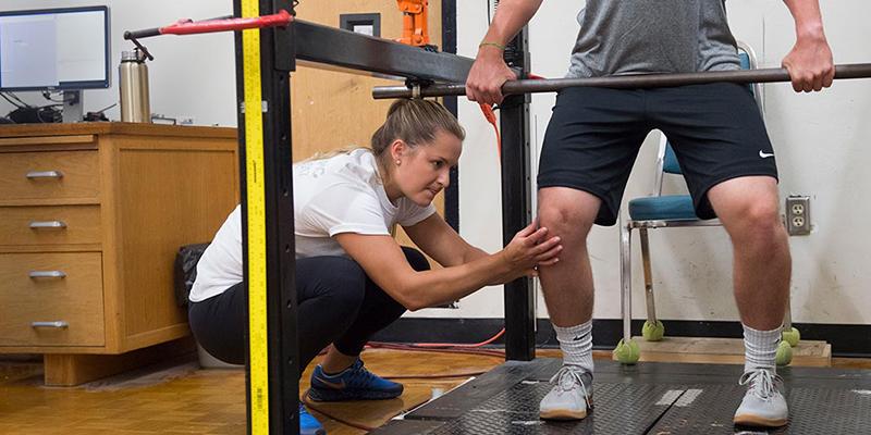 Ushakova and athlete
