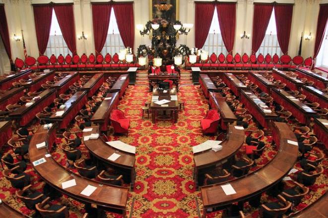 The floor of the Vermont legislature.