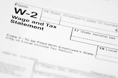 Graphic of a W-2 Form
