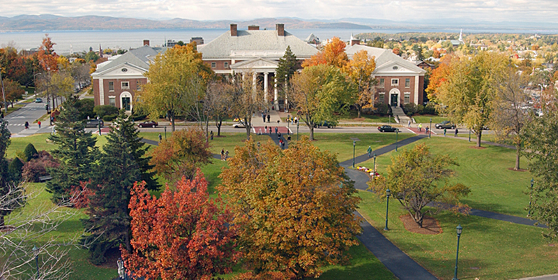 Waterman and UVM Green in fall