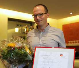 Receiving the Swiss Young Bioinformatician of the Year Award 2014