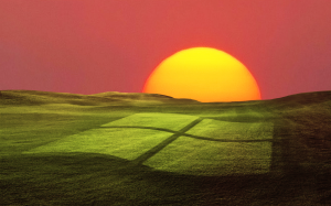 Windows XP Sunset Screen