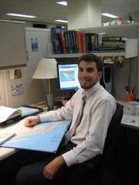 Andrew Turgeon at work at NG.