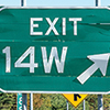 exit 14W sign on the highway