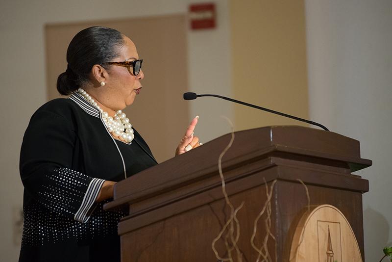 Sheyann Webb-Christburg speaks at Ira Allen Chapel