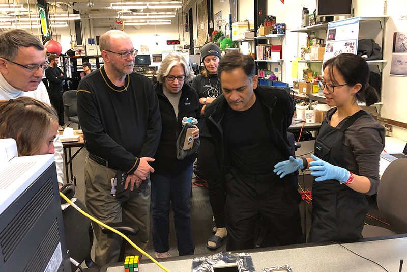 Scientists gather in lab at South Pole