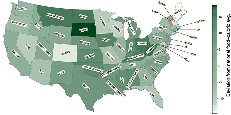 Lexicocalorimeter U.S. Map