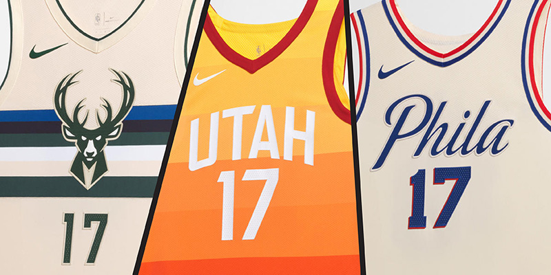 Three basketball jerseys