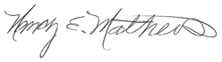 Nancy E. Mathews signature