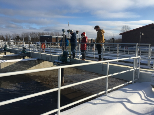 Students at Water Treatment Facility