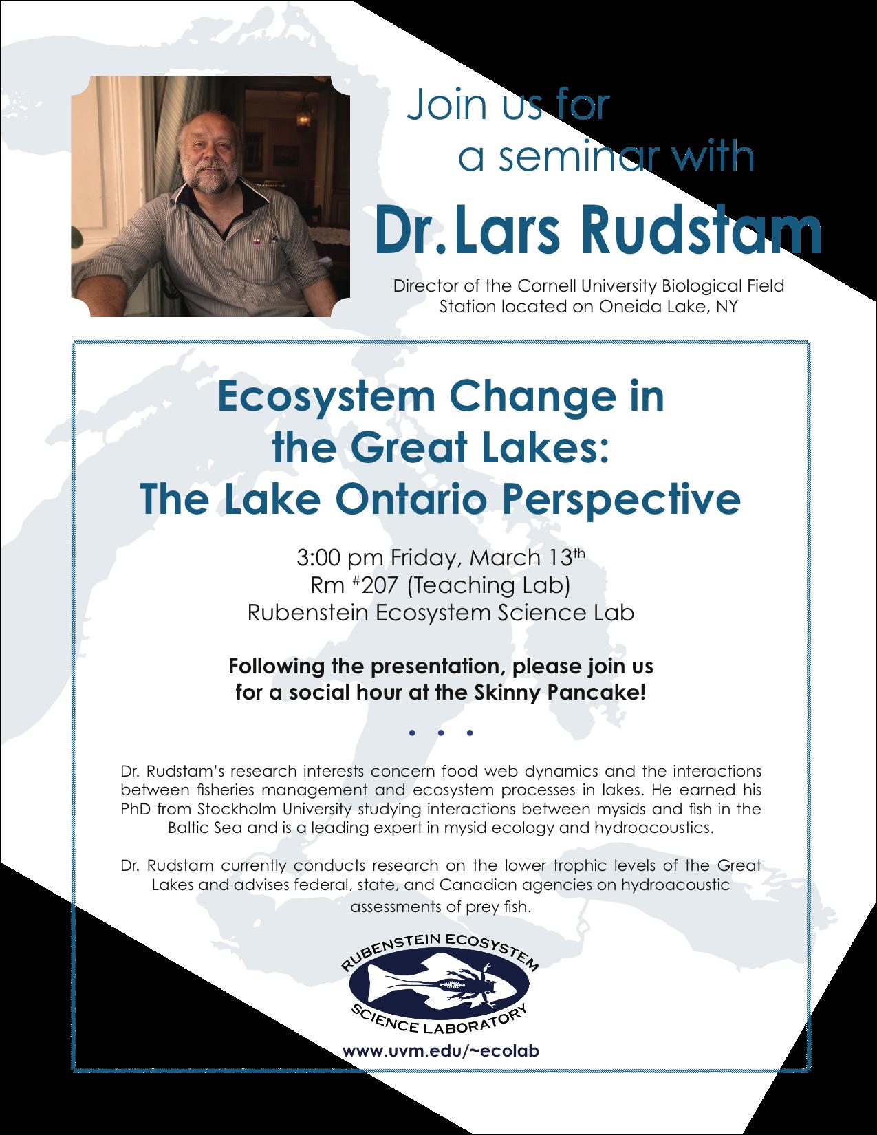Rube Lab Seminar_Dr. Lars Rudstam_flyer