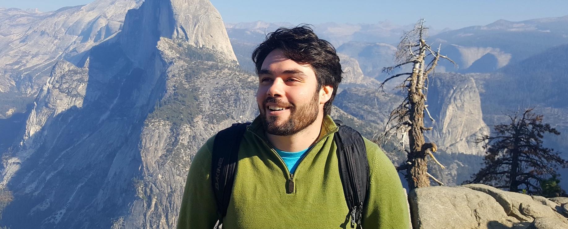 Silas Mullin on mountain top