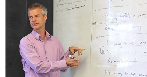 Tyler Doggett teaches Ethics of Eating at UVM