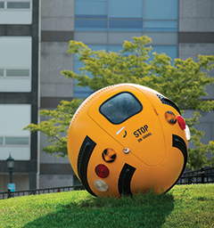 Lars Fisk's Bus Ball on campus