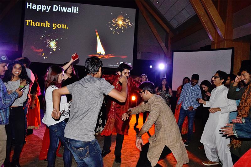 Dancing at Diwali