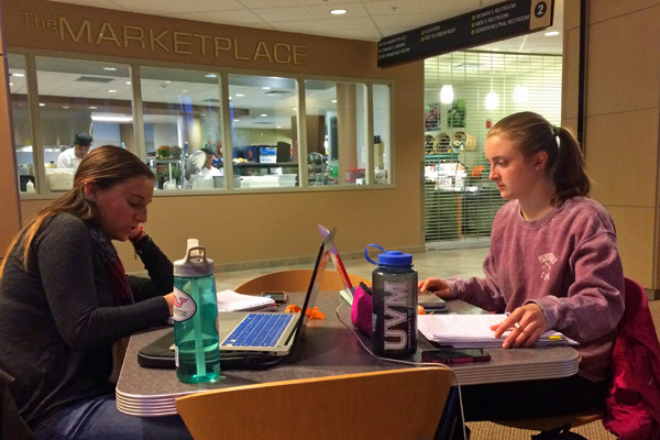 students studying at hte Davis Center