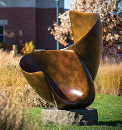 Fluke sculpture on campus