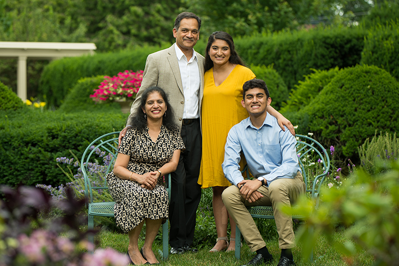 UVM President Garimella and family