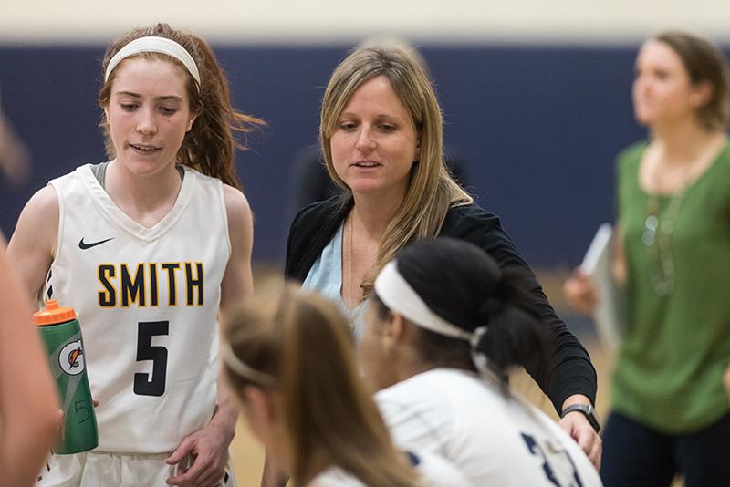 Jen MacAulay coaches at Smith