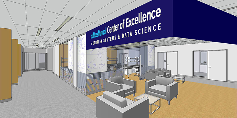A rendering of the MassMutual Center of Excellence for Complex Systems and Data Science