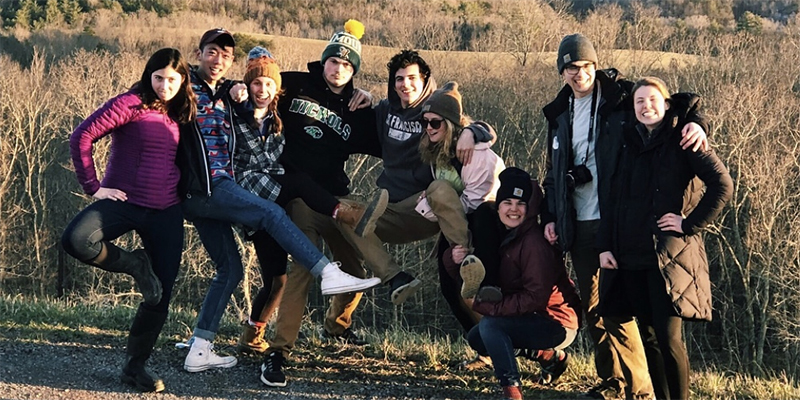 Matt Bompastore and friends on Alternative Spring Break in West Virginia.