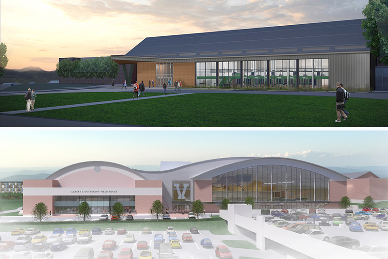Rendering of UVM's multi-purpose center