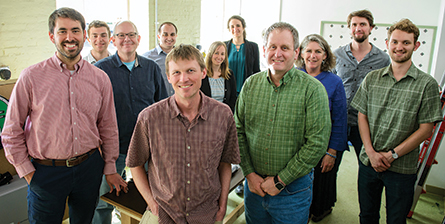 Packetized Energy staff, including UVM faculty Mads Almassalkhi, Jeff Frolik, and Paul Hines