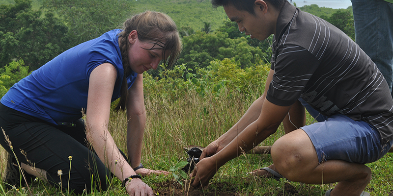 A Peace Corps Volunteer in the field