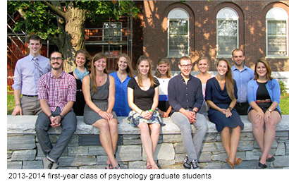 2013-2014 first-year class of psychology graduate students