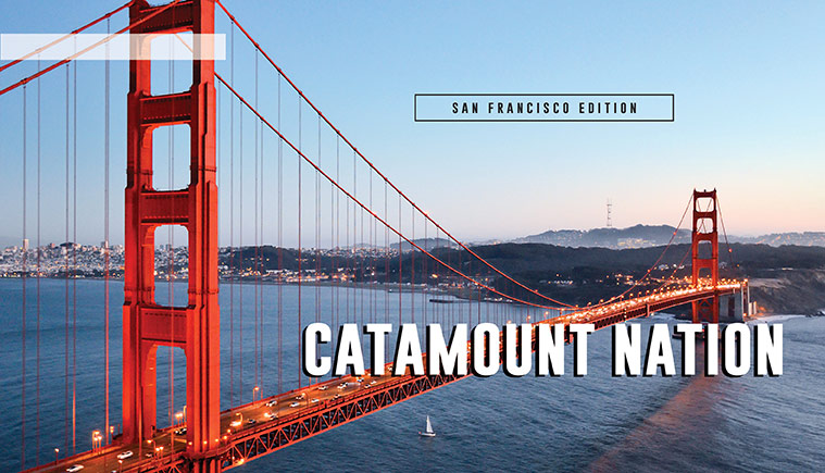 San Francisco bay and Golden Gate bridge