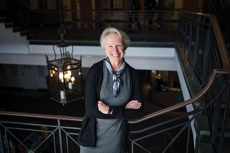 Katherine Shepherd standing in the stairwell in Waterman