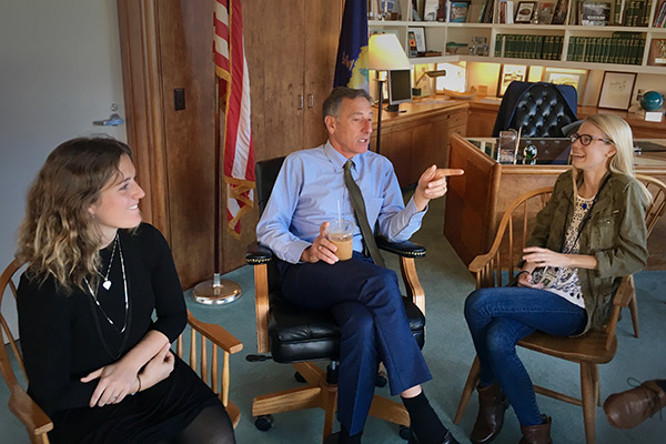 Gov. Shumlin with students