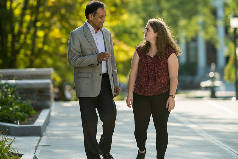 Suresh Garimella with SGA President Jillian Scannell