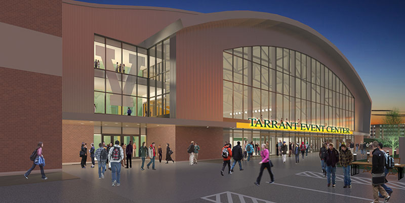 Rendering of Tarrant Event Center exterior