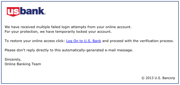 U.S. Bank phishing 20130918 example