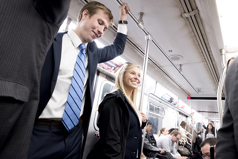 Students on subway