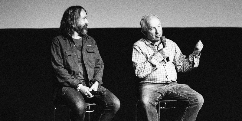 Bones Murphy and Yvon Chouinard on stage